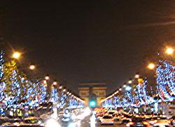 Weihnachtsbeleuchtung Champs Elysées Paris