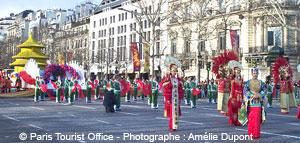 Umzug zum Chinesischen Neujahr in Paris