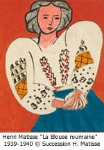 matisseHenri Matisse 'La Blouse roumaine' 1939-1940 © Succession H. Matisse