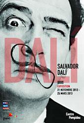Plakat Dali - Ausstellung Centre Pompidou 2012