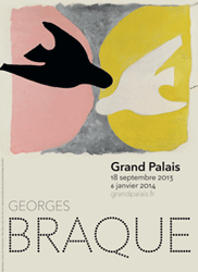 Plakat Retrospektive Georges Braque © Grand Palais Adagp, Paris 2013