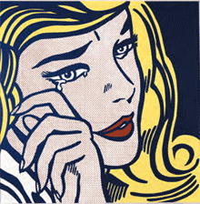Crying Girl©Estate of Roy Lichtenstein New York / ADAGP, Paris, 2013