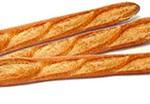 französische Weißbrote baguettes