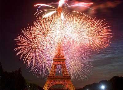 Feuerwerk 14. Juli am Eiffelturm