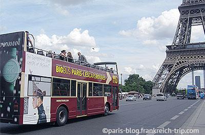 Stadtrundfahrt Paris mit Bus
