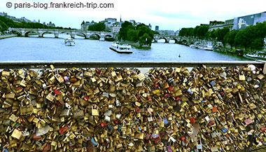 Liebesschlösser Brücke Pont des Arts Paris