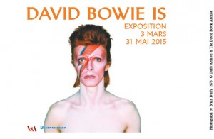 Plakat Ausstellung David Bowie IS - Paris