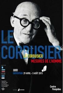 Plakat Le Corbusier im Centre Pompidou