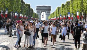 Champs Elysées Paris Sonntags