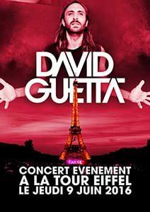 Plakat David Guetta am Eiffelturm