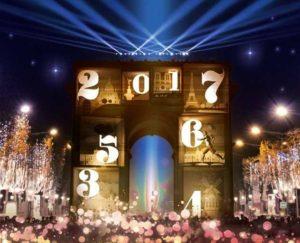 Plakat Silvester 2016/17 Champs-Elysées Paris