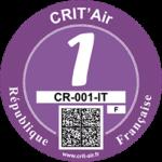 Umweltplakette Critair Paris