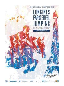 Plakat Longines Paris Eiffelturm Jumping 2017