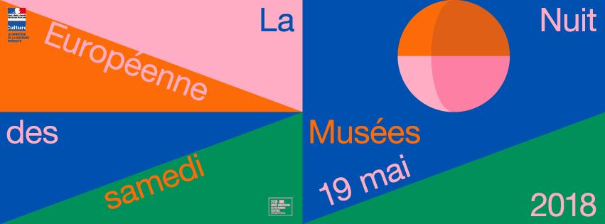 Plakat Lange Nacht der Museen Frankreich 2018
