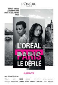 Modenschau L'Oréal auf der Seine Paris 2018
