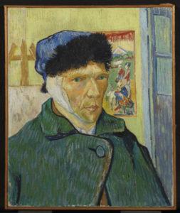 Selbstporträt mit abgeschnittenem Ohr von Vincent van Gogh