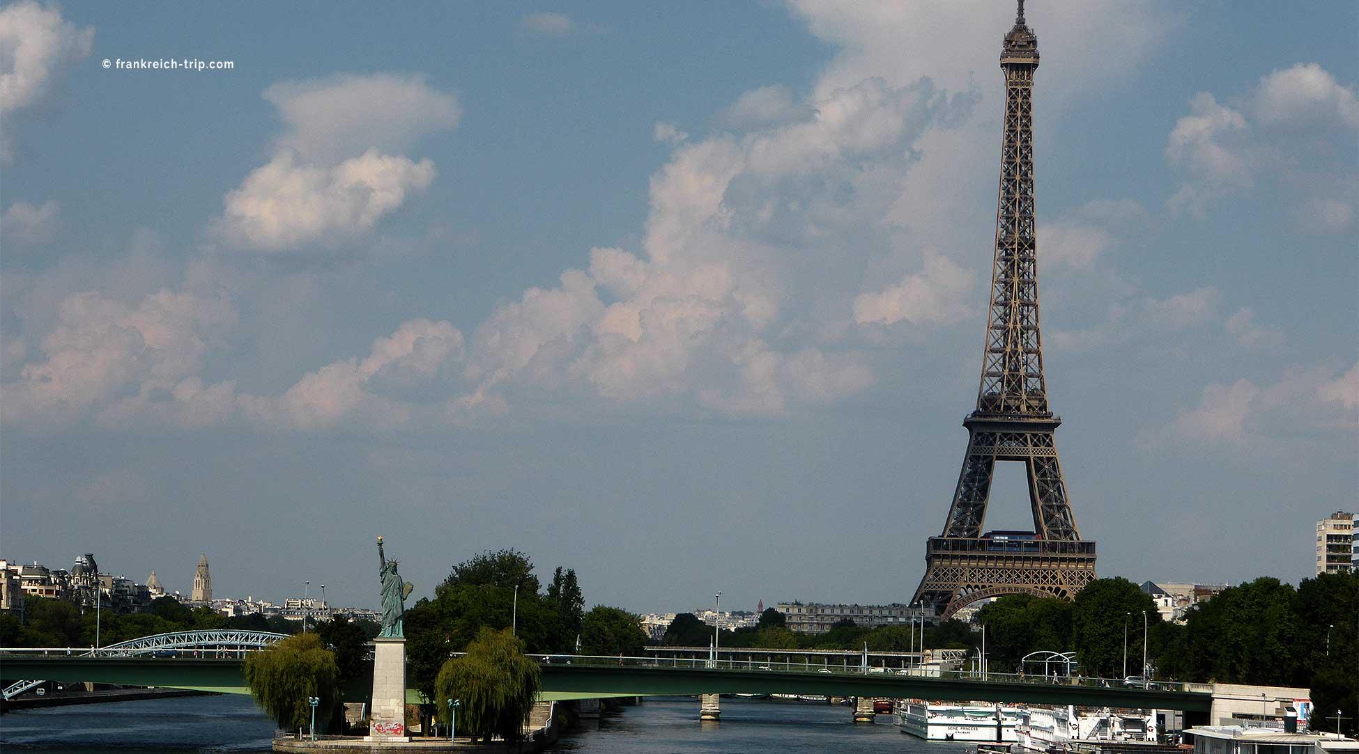 Blick auf Paris, Seine, Eiffelturm