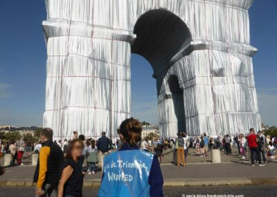 Triumphbogen Paris verpackt von Christo Mediateur