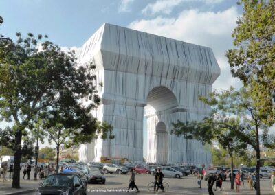 Triumphbogen Paris verpackt von Christo